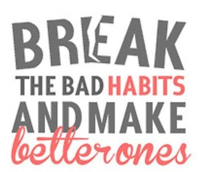 how to break bad habits To break a bad habit, increase your awareness of what you are doing in the first place experts suggest that it helps a lot if you can understand the behavior and its cause before you try to change it.